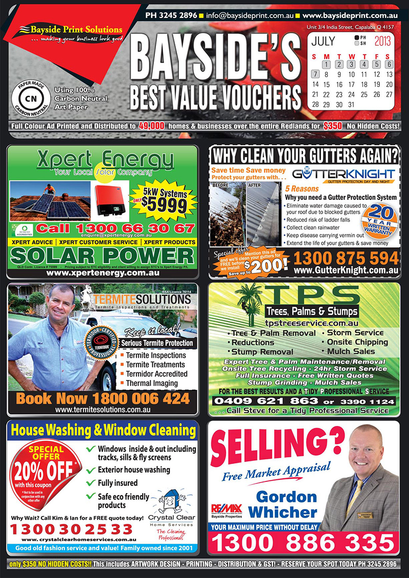 front print advert